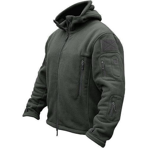 7d2b02fbe301 TACVASEN Windproof Men s Military Fleece Combat Jacket Tactical Hoodies