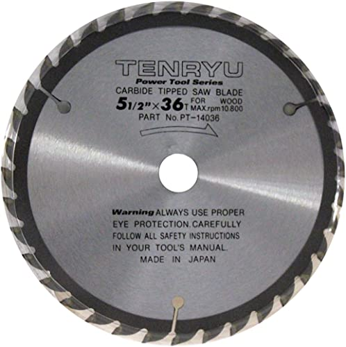 """high quality Tenryu PT-14036 5-1/2"""" Carbide Tipped Saw Blade ( discount 36 Tooth ATAF lowest Grind - 5/8"""",1/2"""" Arbor - 0.063 Kerf) online"""