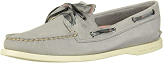 Sperry Womens A/O 2-Eye Varsity Boat Shoe, Grey, 7