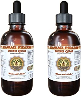 Dong Quai Liquid Extract, Organic Chinese Angelica (Angelica sinensis) Dried Root Tincture Supplement 2x2 oz