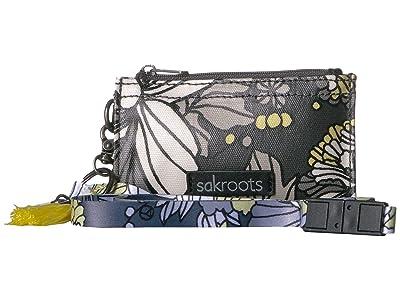 Sakroots Artist Circle ID Lanyard (Slate Flower Blossoms) Wallet