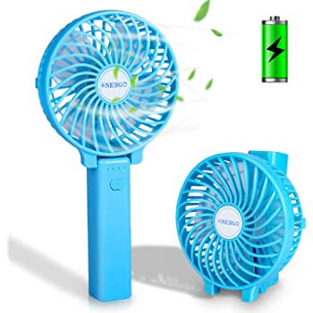 NEEGO Mini Ventiladores de Mano USB Ventilador de Mano Recargable Portátil Ventilador Plegable Mini Ventilador para ...