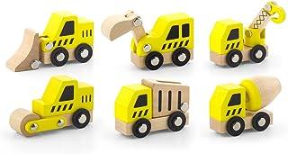 VIGA - Pack de 6 vehículos de construcción - Madera