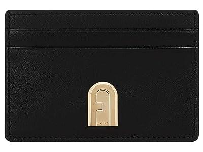 Furla 1927 Small Credit Card Case (Nero) Handbags