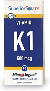 Superior Source Vitamin K1, 500 mcg, 90 Count