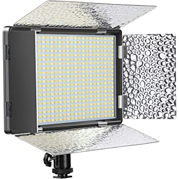 ENEGON LEDビデオライト 520電球 二色 高輝度 無階段調光 4000mAhバッテリー付き、充電器、デジタル一眼レフカメラ用ホットピース、カメラ、三脚、CRI95 +、3200-5600K、YouTube 自撮り オンライン会議 対応