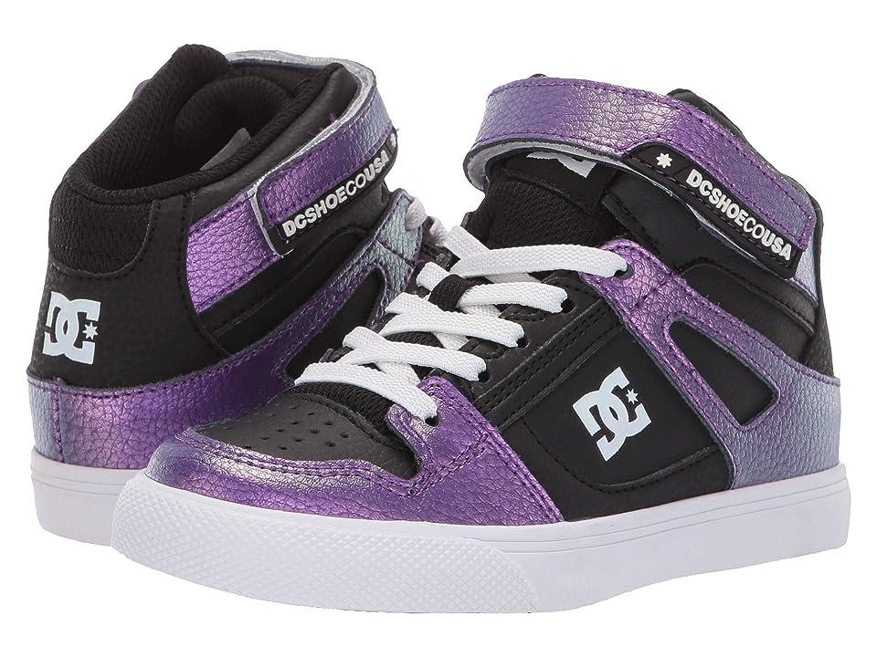 DC Kids Pure High-Top SE EV (Little Kid/Big Kid) (Lavender) Girls Shoes