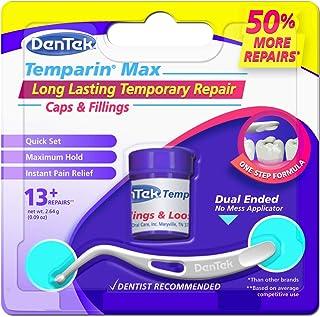 DenTek Temparin Max Lost Filling and Loose Cap Repair Kit | One Step Formula | 5+ Repairs | 0.04 Ounces | 3-Pack