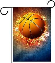 "Tuin Vlag Verticale Dubbelzijdige 28x40 ""Yard Outdoor Decoration.basketball sport poster of flyer"