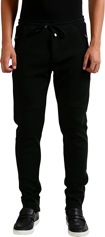 Dolce & Gabbana Men's Slim Dark Green Casual Pants US 34 IT 50