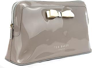 حقيبة غسيل الكافارا النسائية الكبيرة من تيد بيكر حقيبة مستحضرات التجميل حقيبة أدوات الزينة باللون الرمادي