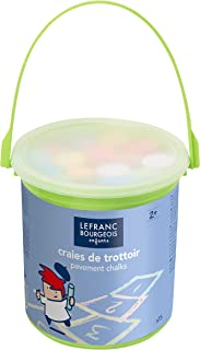 Lefranc Bourgeois - Craies de trottoir colorées pour enfants - Seau de 15
