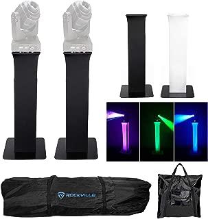 2) Totem Light Stands+Black+White Scrims For Chauvet Q_Spot 260 LED Moving Heads