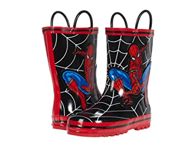 Favorite Characters Spider-Man Rain Boots F20 SPF504 (Toddler/Little Kid) (Black) Boy