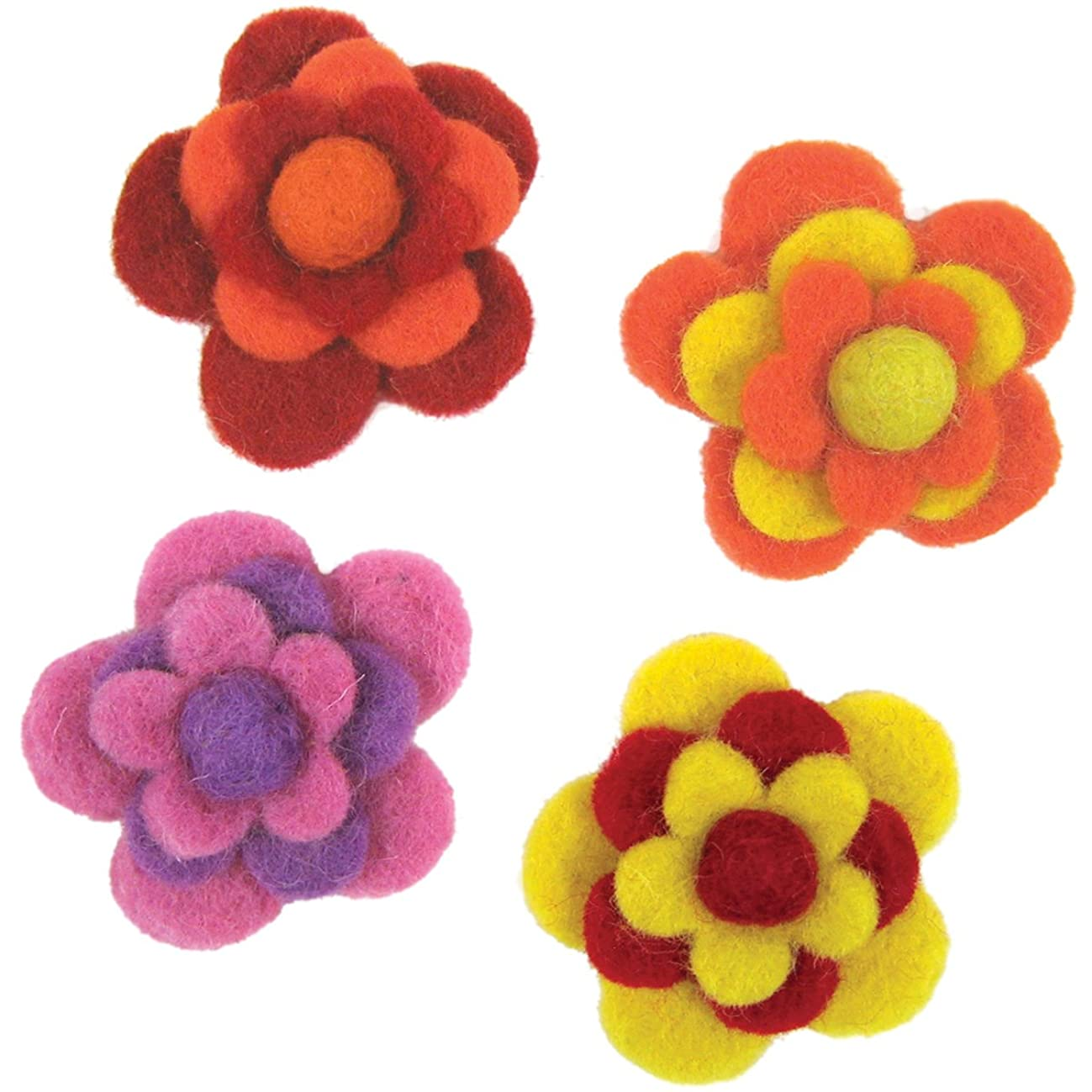 Dimensions Felt Embellishments, Layered Warm Flowers