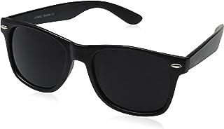 zeroUV ZV-8452h Wayfarer Sunglasses, Matte Black, 54 mm