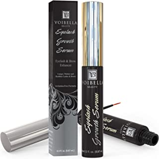 Voibella Eyelash Growth Serum and Eyebrow Enhancer 8.87ML - Best Natural Eye Lash Enhancing and Rapid Brow Growing Treatme...