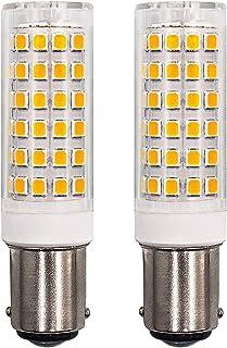 Bombilla LED B15D 6W regulable color blanco cálido 3000K repuesto para bombillas halógenas de 60W AC220–240V, ángulo de 360 grados para máquina de coser lámpara de ventilador de techo, 2 unidades