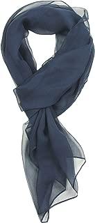 navy chiffon scarf