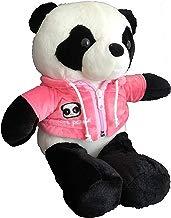 Oso Panda Peluche Animal Realista Chaqueta Sudadera Cremallera Capucha (Rosa)
