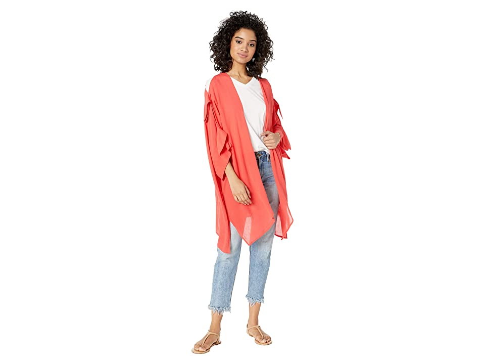 Echo Design Tie Shoulder Cardigan (Poppy) Women