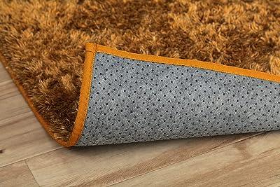 イケヒコ ラグ カーペット マット ルフォン 約200×250cm オレンジ オールシーズン シンプル 制菌加工 #3985159