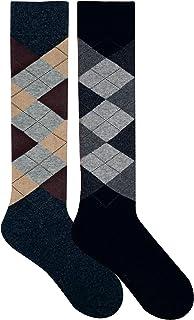"socksPur HERREN HARMONY EXTRA KNIESTRUMPF ""CLASSIC CARO"" 2er PACK"