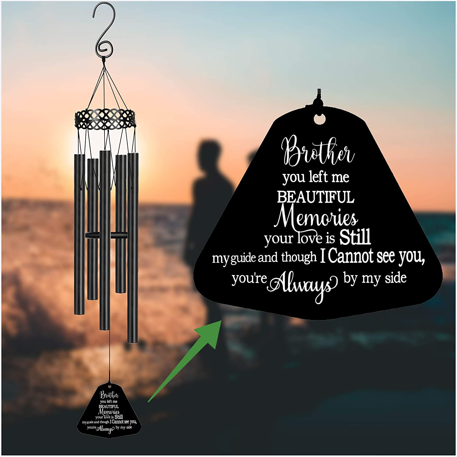 Max Baltimore Mall 89% OFF Memorial Wind Chimes for Loss of Blood Sympathy Lo Gifts Brother