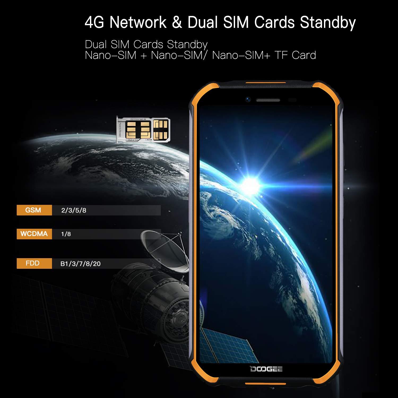 DOOGEE S40 4G Móvil Libre Antigolpes, IP68/IP69K Impermeable Android 9.0 Telefono Movil Todoterreno, 4650 mAh 3GB 32GB Dual SIM, 5.5 8MP+5MP Camaras, NFC Huella Dactilar Desbloqueo Facial: Amazon.es: Electrónica