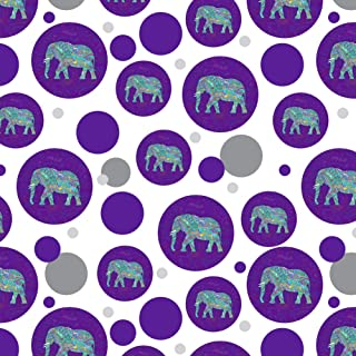 GRAPHICS & MORE Mosaic Elephant Premium Gift Wrap Wrapping Paper Roll