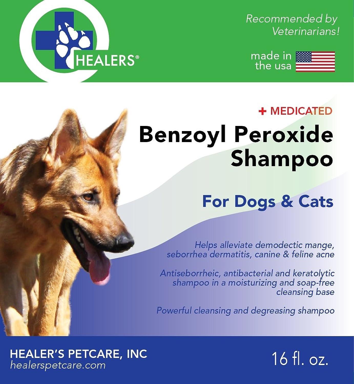 Healers PetCare Benzoyl Peroxide Shampoo, 16 oz