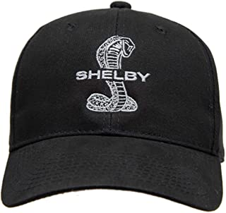 Shelby Super Snake Black Hat | Officialy Licensed Shelby Product | One-Size Fits All | Adjustable Hook/Loop Closure