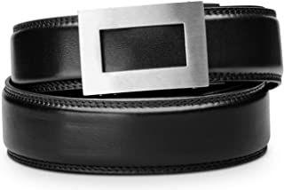 """KORE Men's Full-Grain Leather Track Belts   """"Icon"""" Stainless Steel Buckle"""