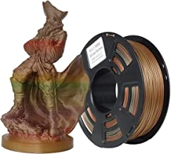Stronghero3D 3D Printing PLA Filament 1.75mm Bronze Rainbow Multicolors Net Weight 1KG Accuracy +/-0.05mm