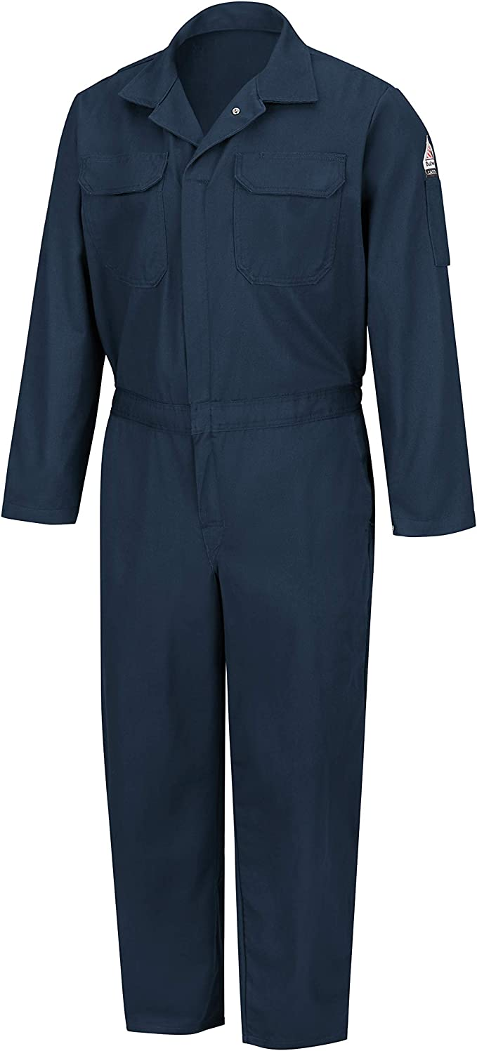 Amazon Com Bulwark Men S Flame Resistant 6 Oz Nomex Iiia Premium Coverall Clothing