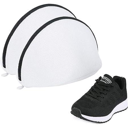 [Amazonブランド] Umi.(ウミ) 靴用 洗濯ネット シェル型ランドリーネット 洗濯袋2ピース スニーカー/シューズ/上履き 粗目 丈夫 耐久性 旅行 収納ネット 家庭用商品名称