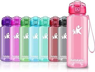 KollyKolla Sports Water Bottle 32 oz, 24 oz, 17 oz, 13 oz, BPA Free Reusable Kids Water Bottle with Leak-Proof Flip Top Lid for Bike, Gym, Yoga, Running, Camping, Cycling