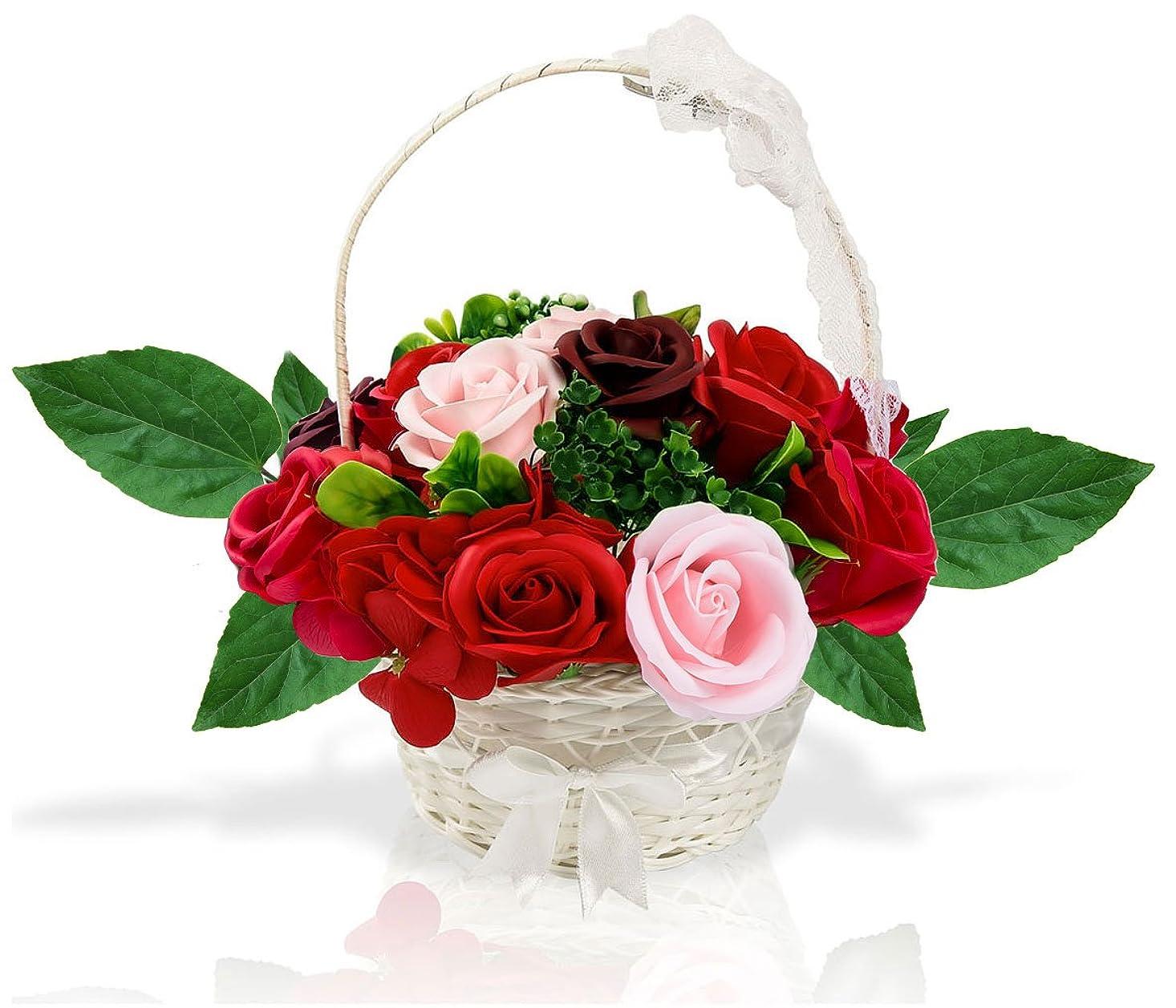 郡摂氏少しソープフラワー 創意花かごギフトボックス 母の日 誕生日 記念日 先生の日 バレンタインデー 昇進 転居など最適としてのプレゼント