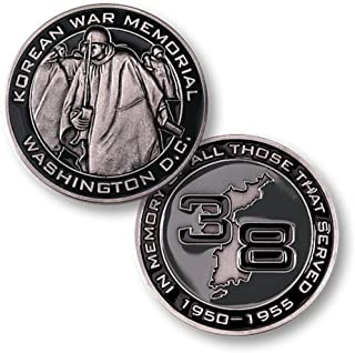 Korean War Memorial Washington DC In Memory Of All Those That Served 1950-1955 Challenge Coin