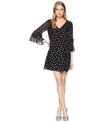 Lilly Pulitzer Caroline Silk Tunic Dress (Onyx Starry Clip Chiffon) Women
