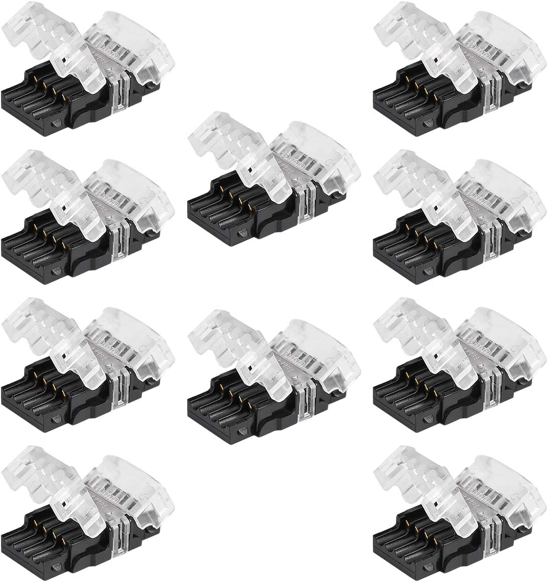 BZONE 10 Pack LED Popular standard Challenge the lowest price Strip Connector Wide Non-Waterproof 10mm for 4