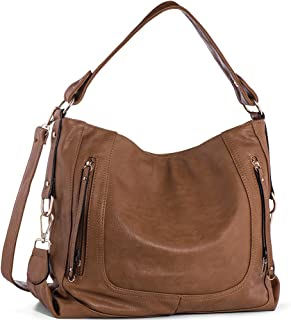 3f29bae510 Amazon.com  Leather - Hobo Bags   Handbags   Wallets  Clothing ...