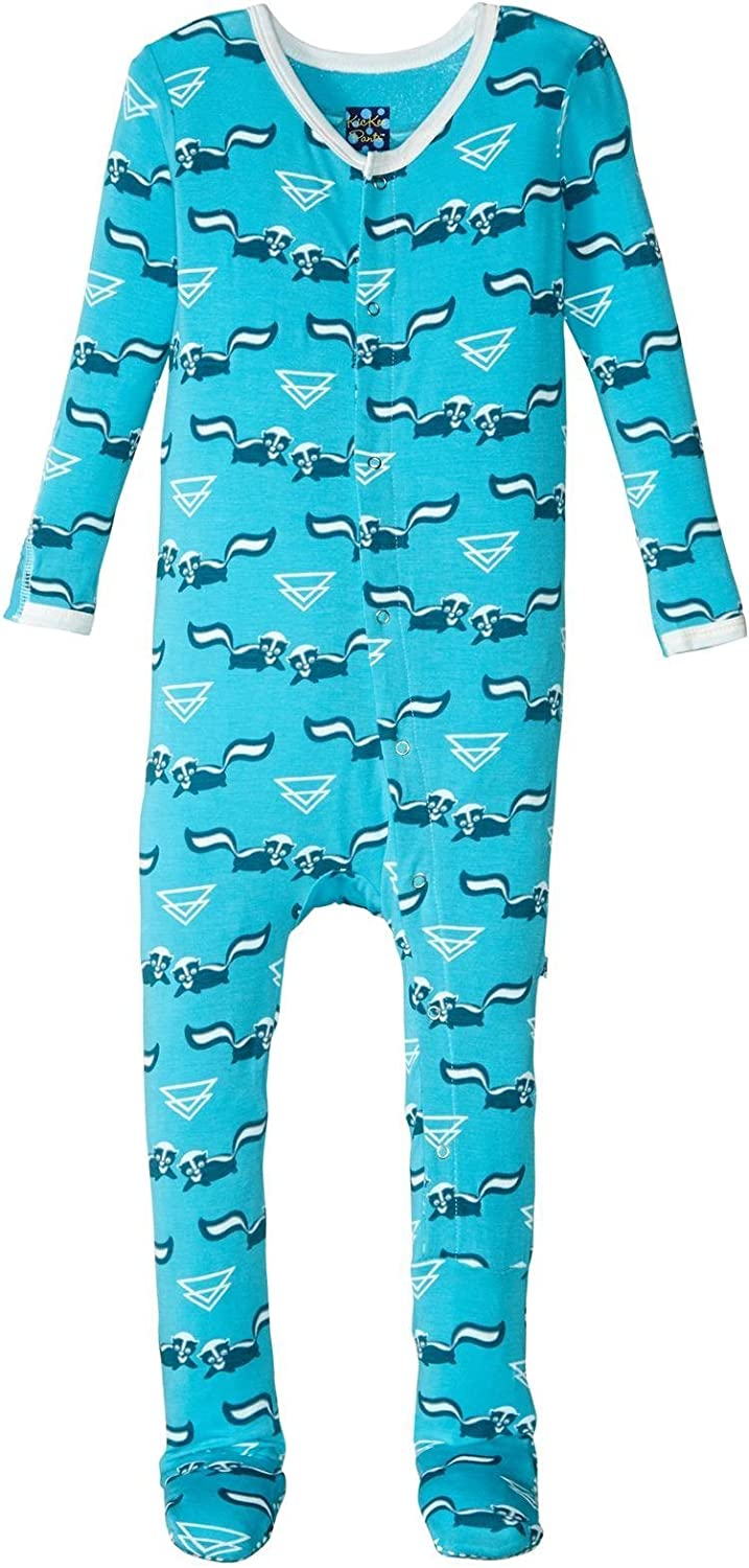 Kic Kee Pants Animer and price revision Baby Prd-kpf173-cis Girls' Print Footie San Francisco Mall