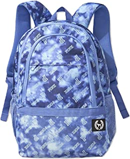 Victoria's Secret Pink Collegiate Backpack Tie Dye Logo Blue School Bag NWT