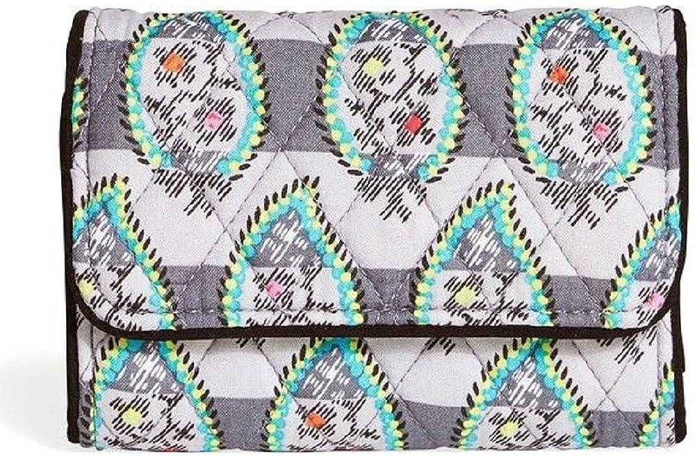 Vera Bradley San Diego Mall RFID Riley free Compact Wallet Paisley Stripes in