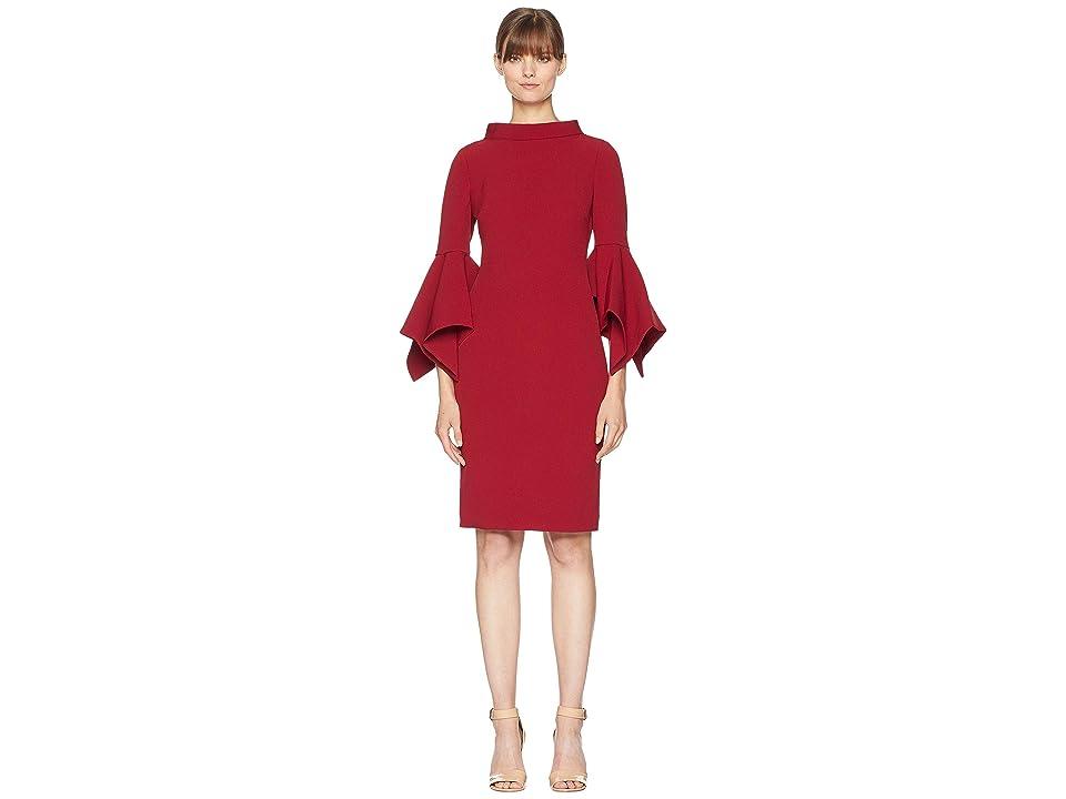 Badgley Mischka No Pearls Plain Dress (Ruby) Women