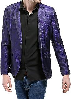 ZZLBUF Stylish Men 's Casual Slim Fit Formal One Button Suit Blazer Coat Jacket Tops