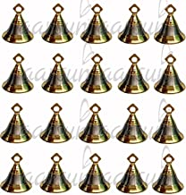 Aarsun Woods Brass Temple Decor Bell (1.5x2-inch, Gold and Silver) - Pack of 20