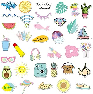 Laptop Stickers - Funny 35 Stickers Pack - Pura Vida Stickers - Water Bottles Stickers - Waterproof - Vinyl Stickers - Trendy Stickers for Girls Teens