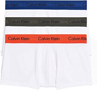 Calvin Klein Men's 3-Pack Stretch Cotton Low-Rise Trunks, Cacao (X-Large)